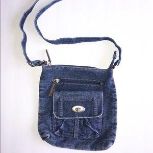 Handbags - Vintage 90's Denim Acid Jean Hobo Crossbody Purse